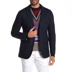 BURBERRY Soho Herringbone Notch Lapel Wool Blazer